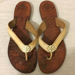 Tory Burch flats Sandals Sz 37